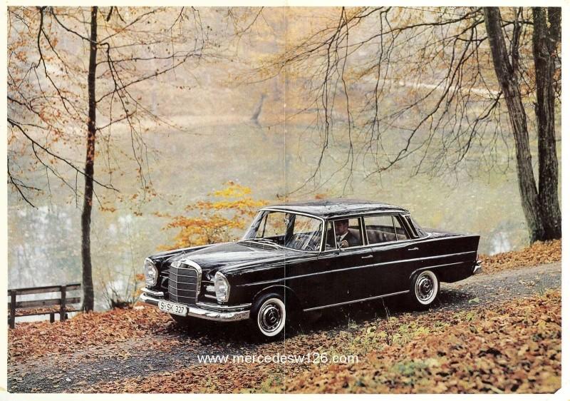 Catalogue de 1965 sur la Mercedes W111 230S W11_2316