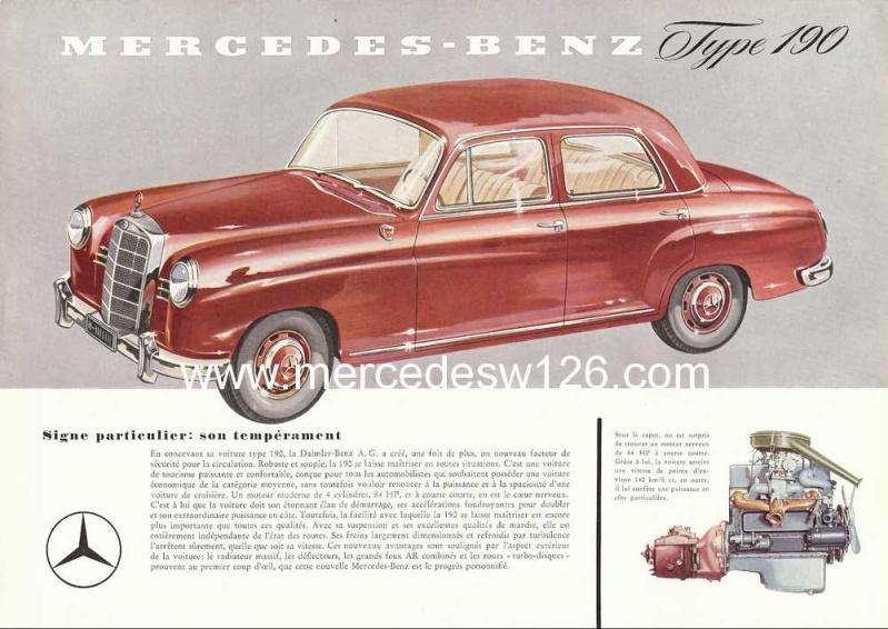Prospectus sur la Mercedes W121 190 W121_110