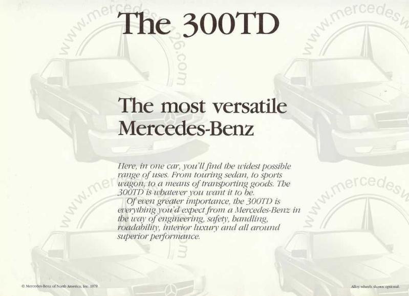 Catalogue américain de 1983 sur le break W123 W123_a13