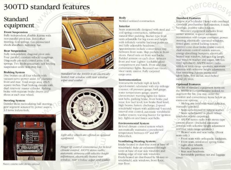 Catalogue américain de 1983 sur le break W123 W123_a19