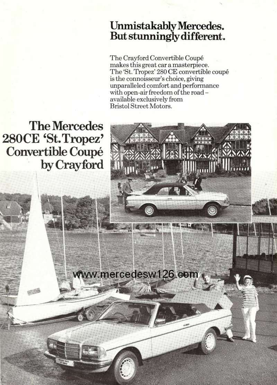 Prospectus sur les Mercedes W123 cabriolet Crayford W123_c10