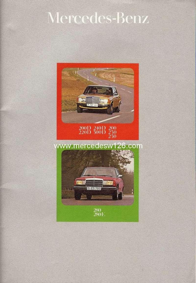 Catalogue de 1976 sur la gamme Mercedes W123 essence & diesel W123_g10