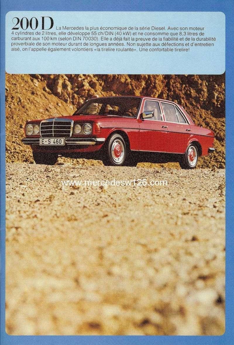 Catalogue de 1976 sur la gamme Mercedes W123 essence & diesel W123_g13