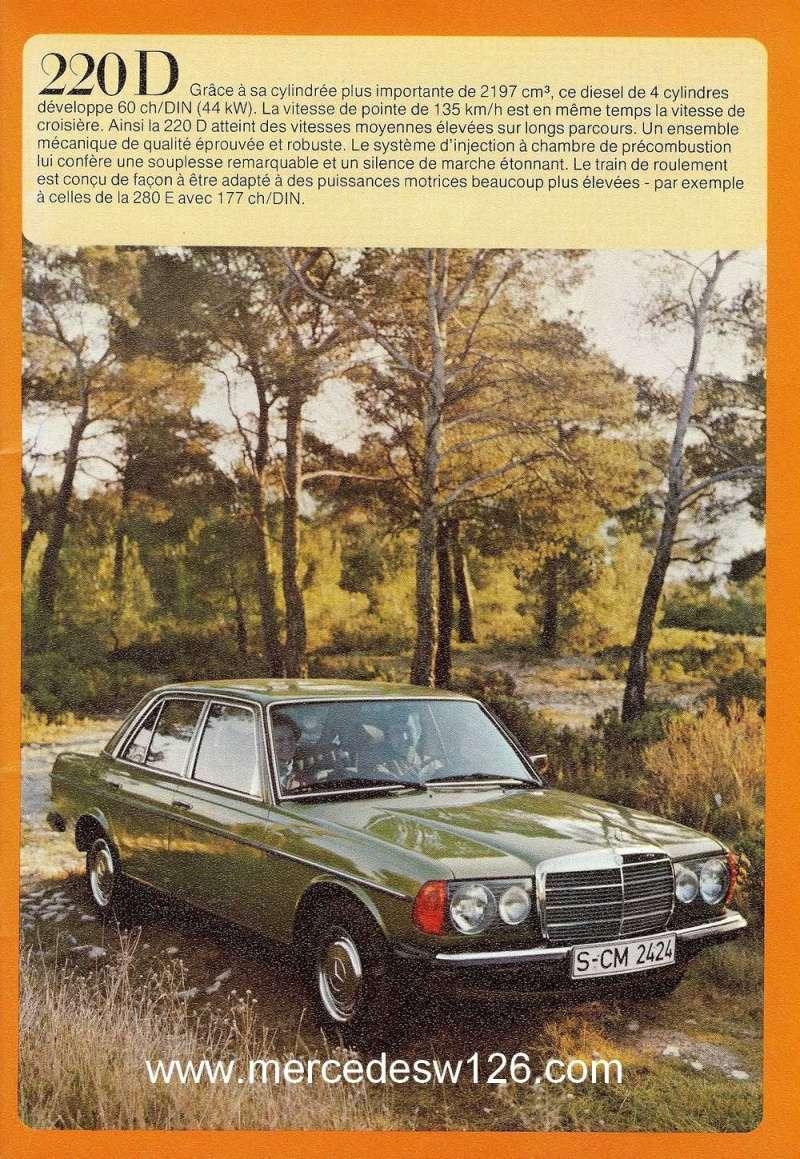 Catalogue de 1976 sur la gamme Mercedes W123 essence & diesel W123_g14