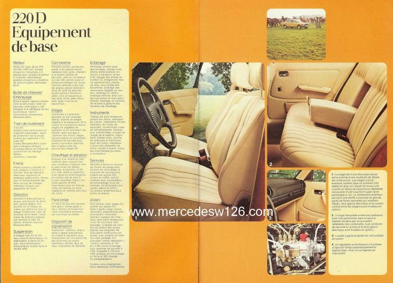 Catalogue de 1976 sur la gamme Mercedes W123 essence & diesel W123_g15