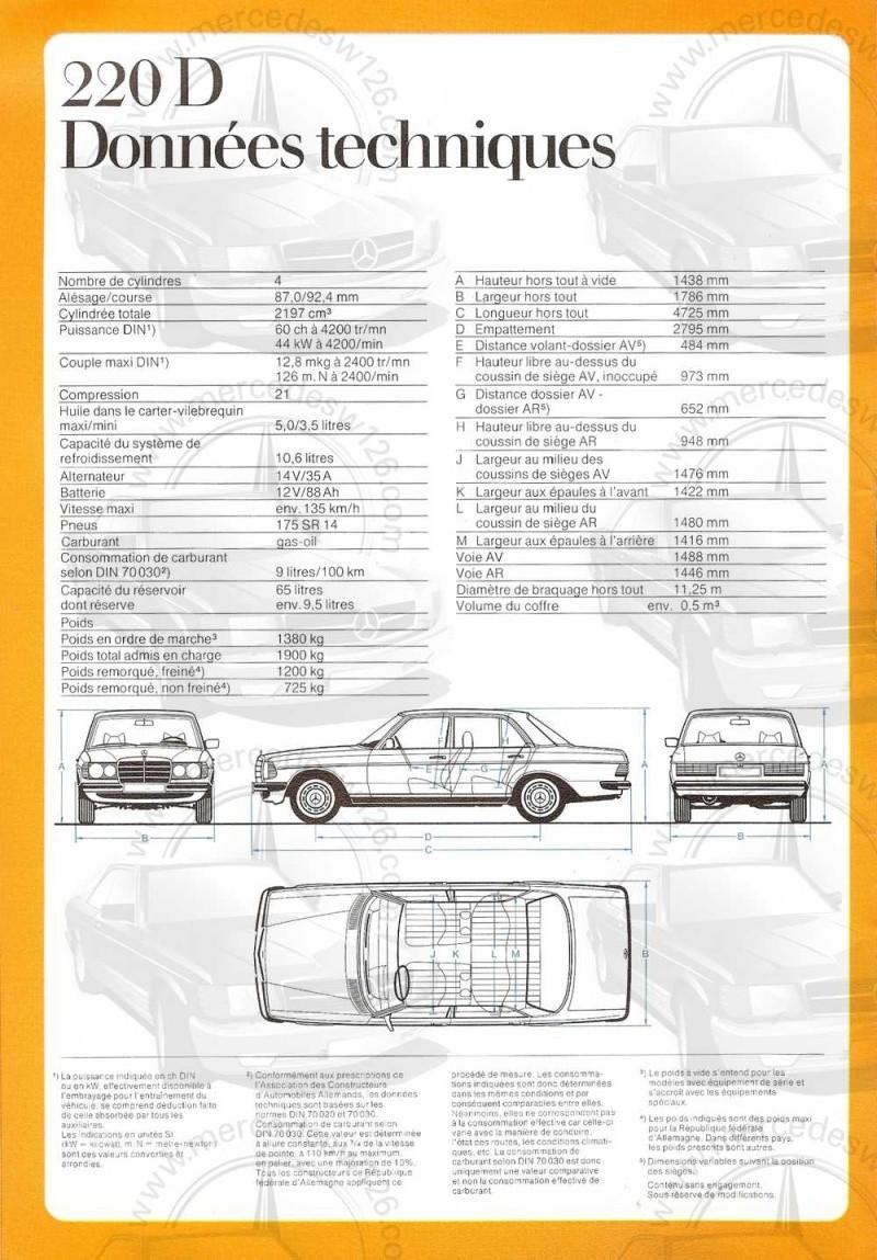Catalogue de 1976 sur la gamme Mercedes W123 essence & diesel W123_g17