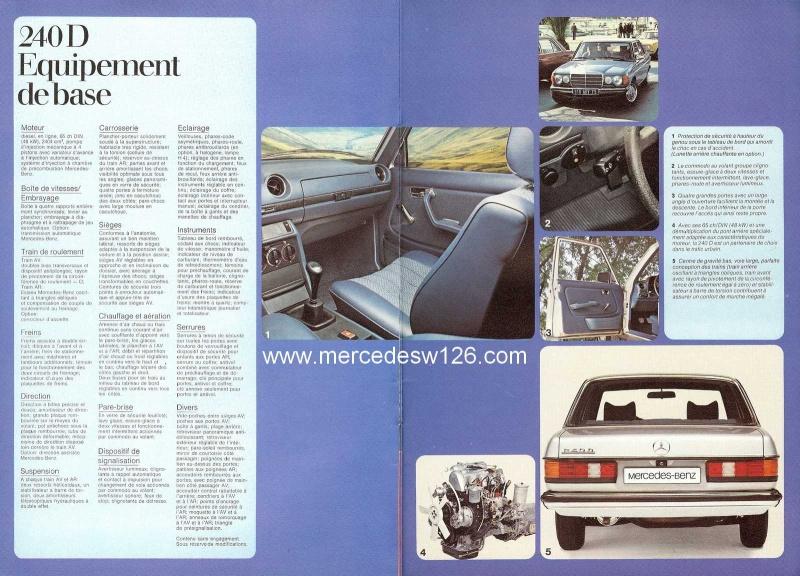 Catalogue de 1976 sur la gamme Mercedes W123 essence & diesel W123_g19
