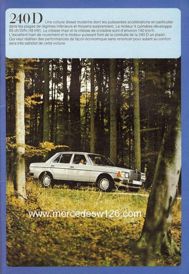 Catalogue de 1976 sur la gamme Mercedes W123 essence & diesel W123_g20
