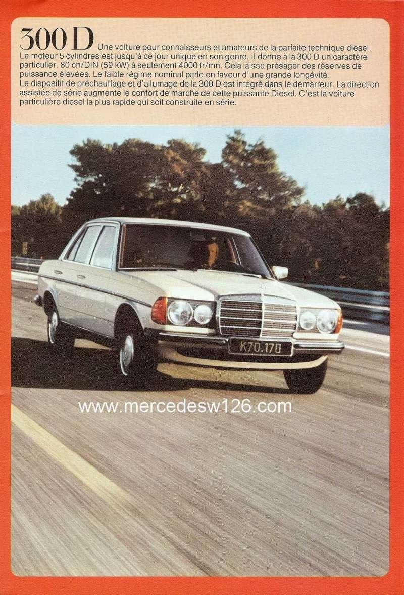 Catalogue de 1976 sur la gamme Mercedes W123 essence & diesel W123_g21