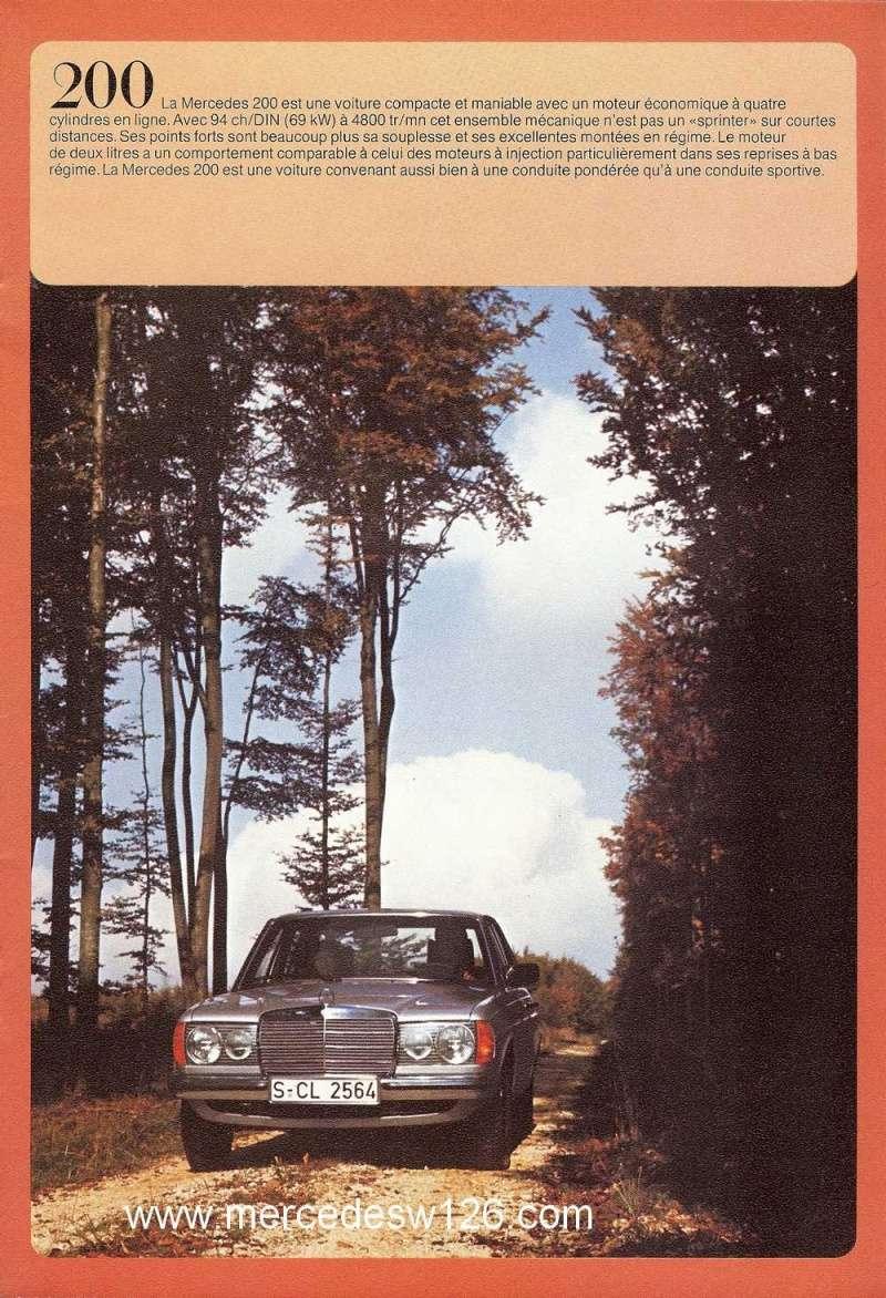 Catalogue de 1976 sur la gamme Mercedes W123 essence & diesel W123_g23