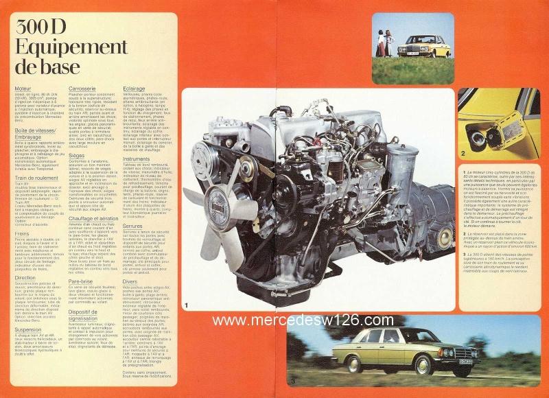 Catalogue de 1976 sur la gamme Mercedes W123 essence & diesel W123_g24