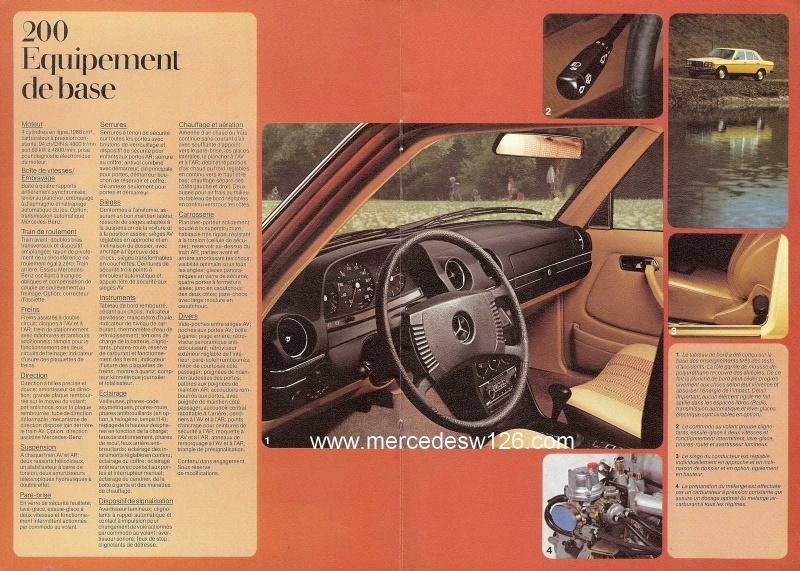Catalogue de 1976 sur la gamme Mercedes W123 essence & diesel W123_g26