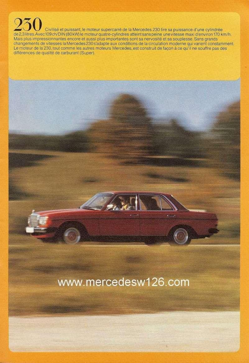 Catalogue de 1976 sur la gamme Mercedes W123 essence & diesel W123_g27