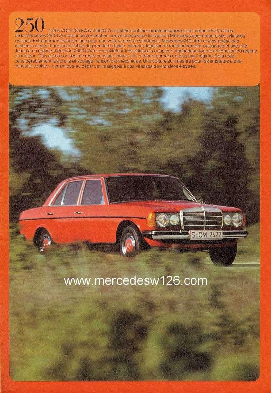 Catalogue de 1976 sur la gamme Mercedes W123 essence & diesel W123_g30