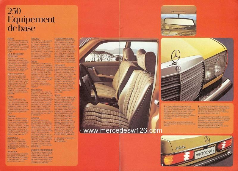 Catalogue de 1976 sur la gamme Mercedes W123 essence & diesel W123_g31