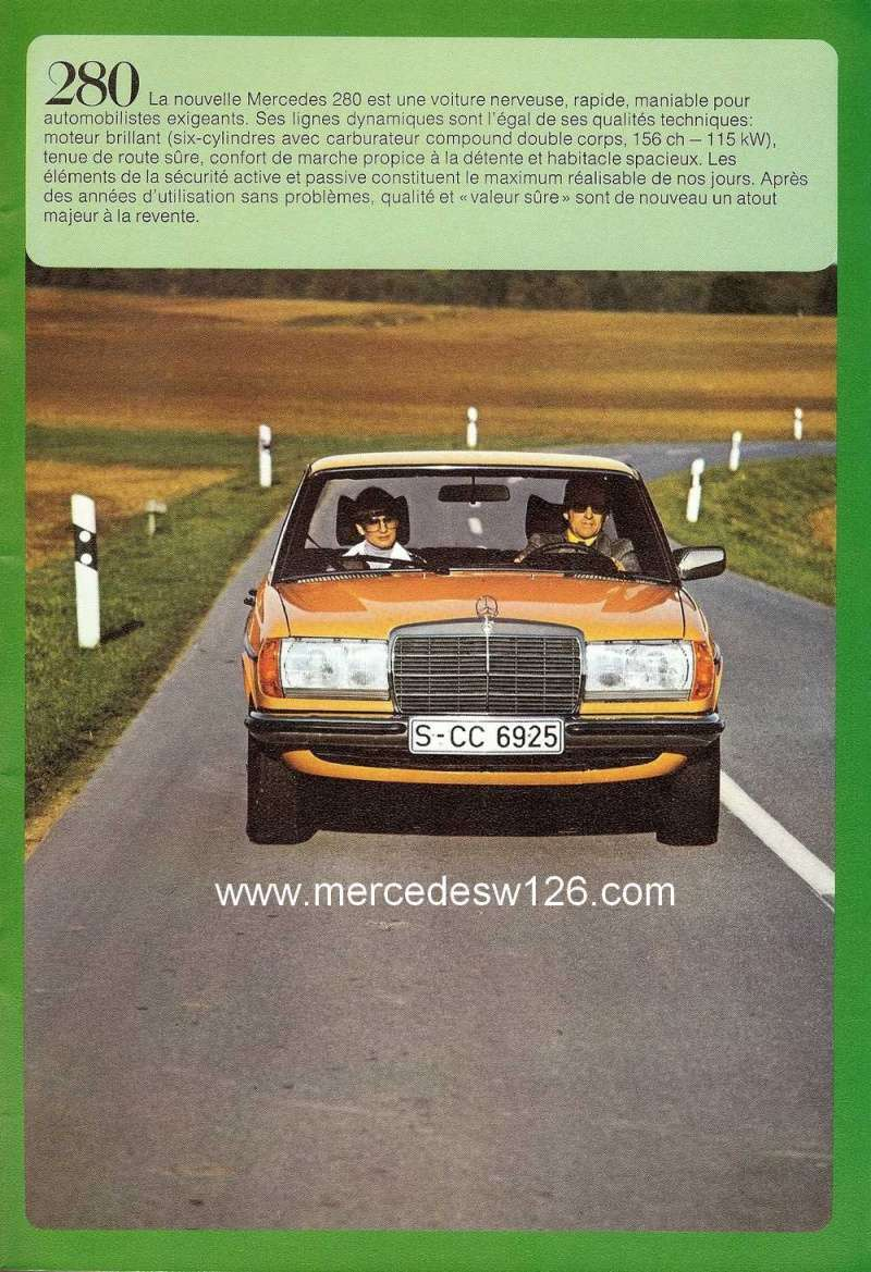 Catalogue de 1976 sur la gamme Mercedes W123 essence & diesel W123_g33