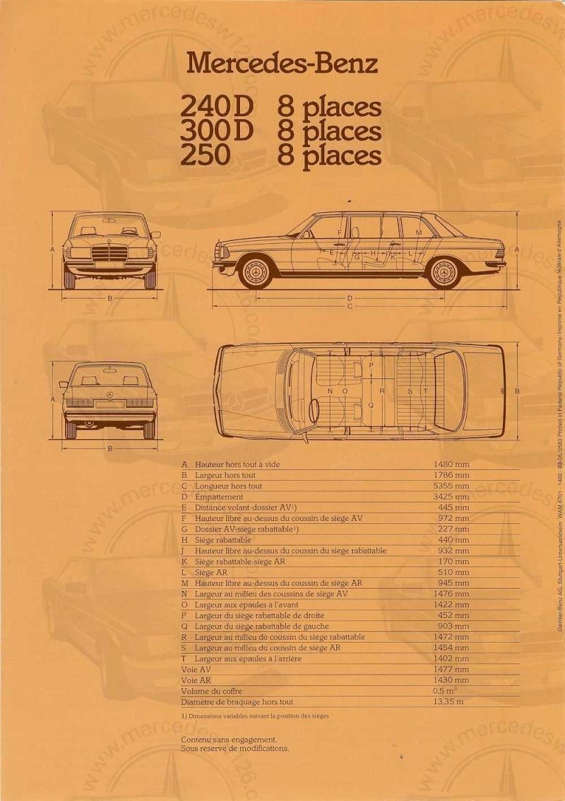 Dépliant de 1983 sur la Mercedes W123 limousine W123_l11