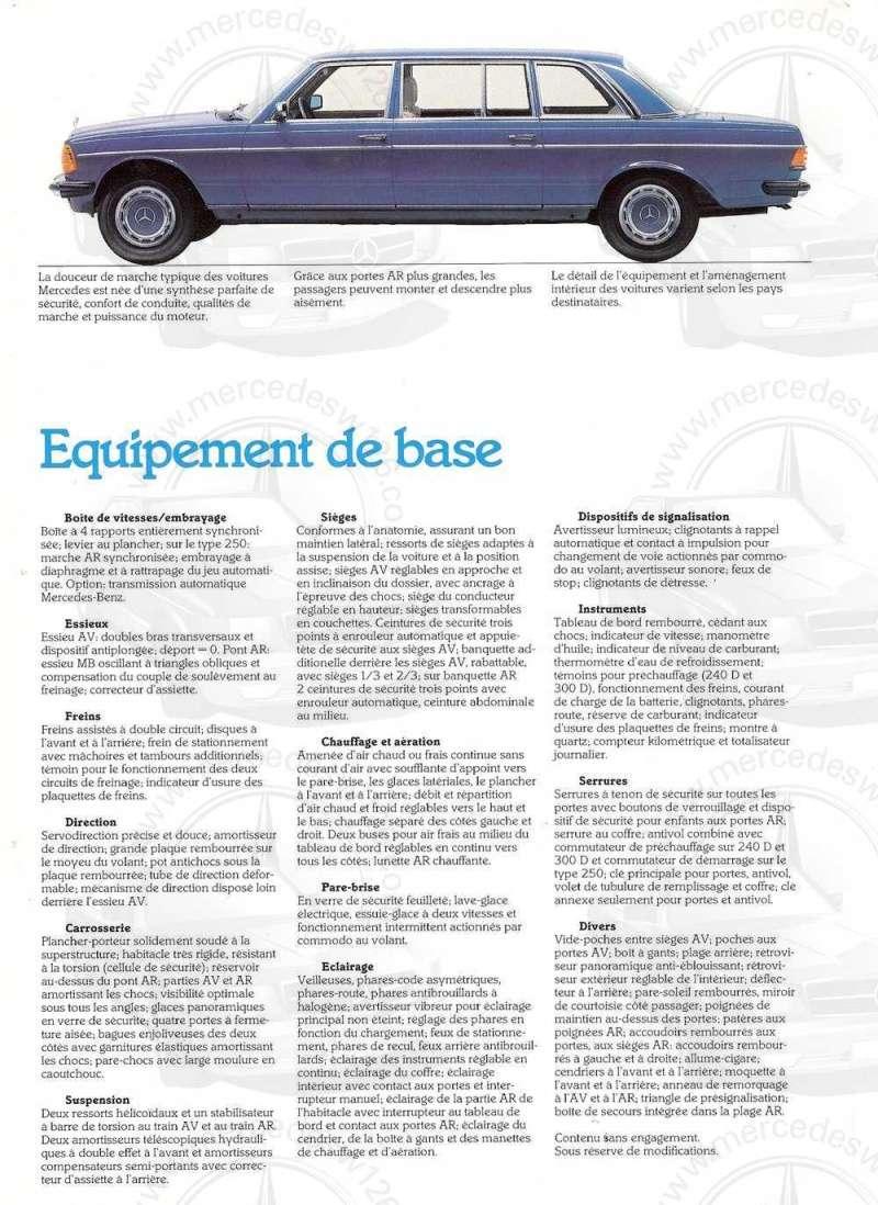Dépliant de 1983 sur la Mercedes W123 limousine W123_l13