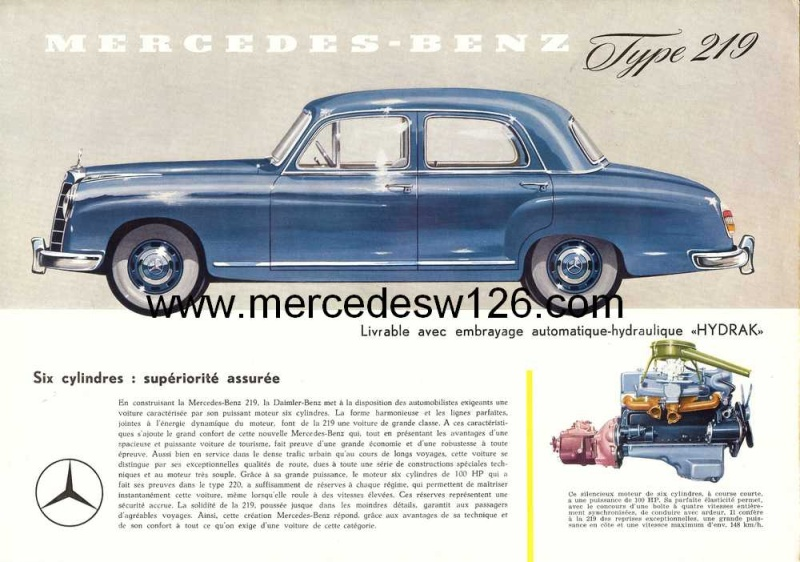 Prospectus sur la Mercedes W180 219 W180_210