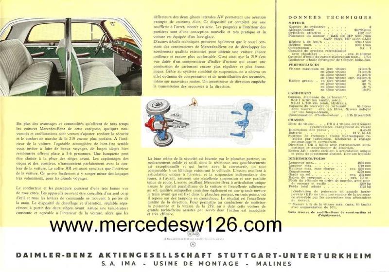 Prospectus sur la Mercedes W180 219 W180_211
