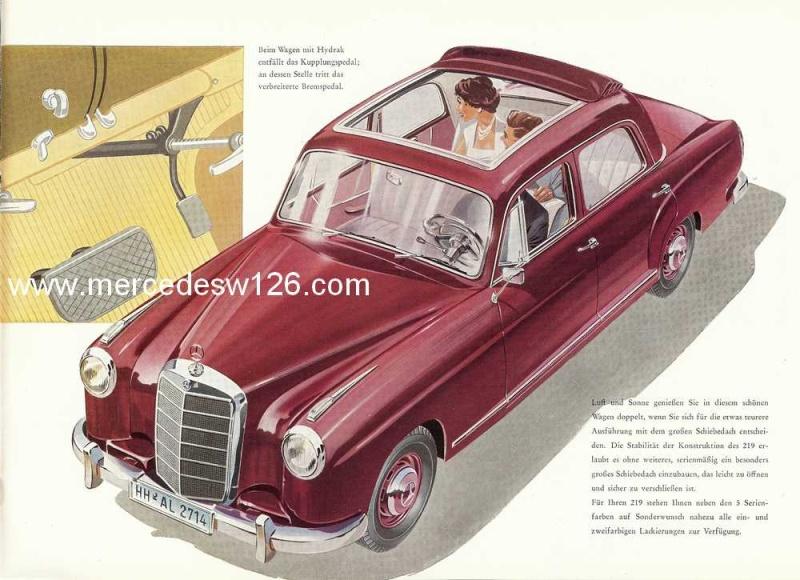 Catalogue de 1960 sur la Mercedes W180 219  W180_213