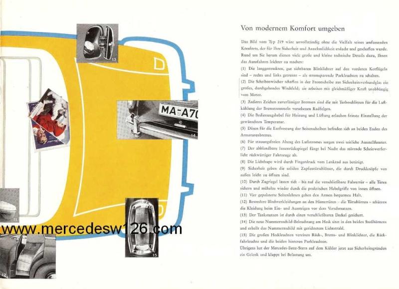 Catalogue de 1960 sur la Mercedes W180 219  W180_214