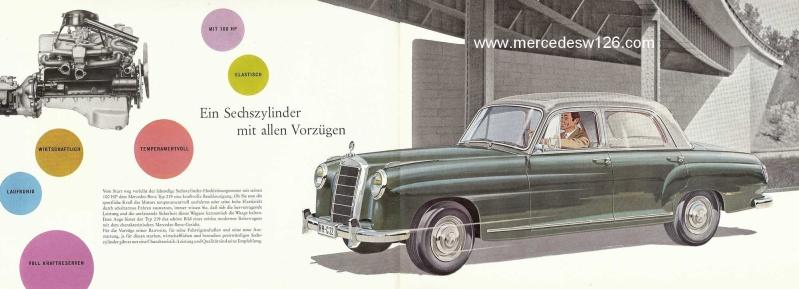 Catalogue de 1960 sur la Mercedes W180 219  W180_215