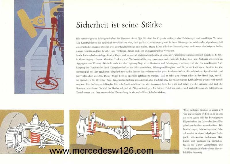 Catalogue de 1960 sur la Mercedes W180 219  W180_216