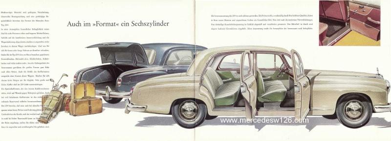 Catalogue de 1960 sur la Mercedes W180 219  W180_217