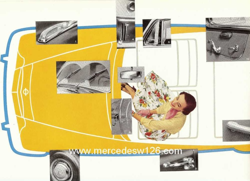 Catalogue de 1960 sur la Mercedes W180 219  W180_219