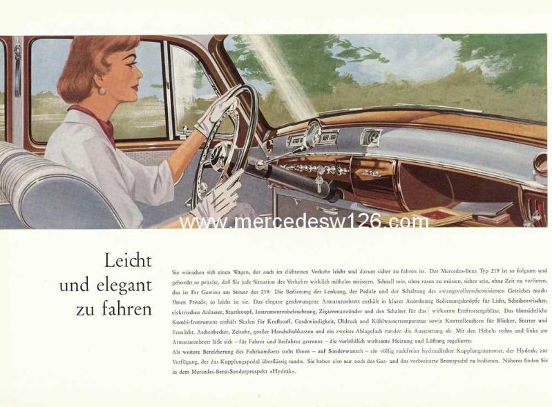 Catalogue de 1960 sur la Mercedes W180 219  W180_220