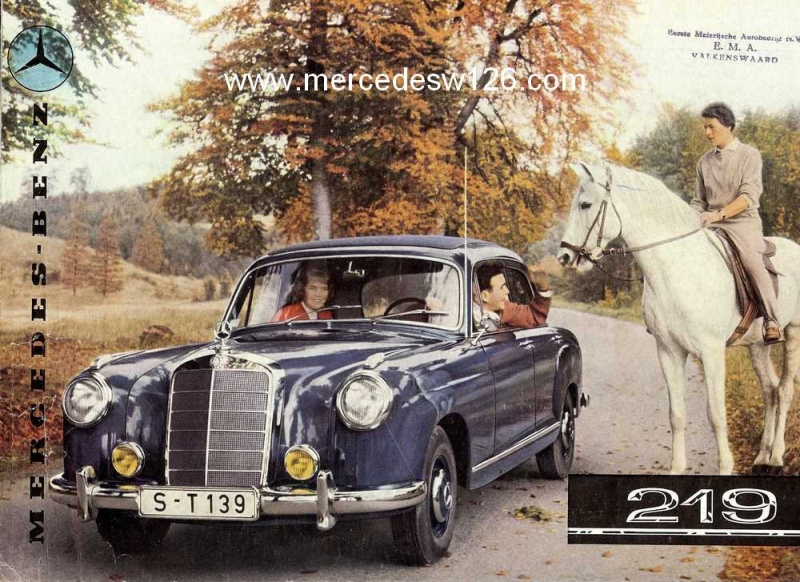 Catalogue de 1958 sur la Mercedes W180 219 W180_223