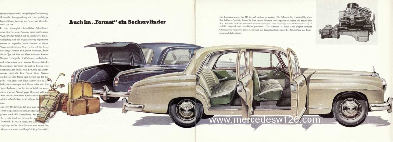 Catalogue de 1958 sur la Mercedes W180 219 W180_224