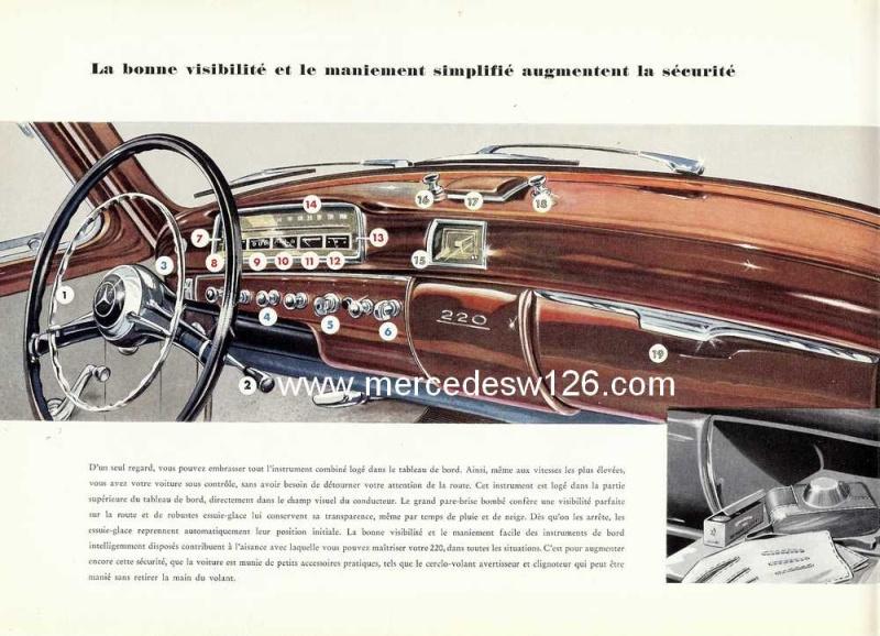 Catalogue de 1959 sur les W180 220 W180_232