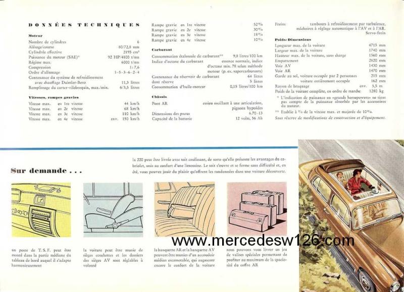 Catalogue de 1959 sur les W180 220 W180_238