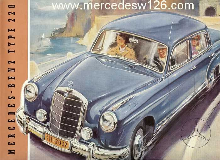 "Catalogue de 1954 sur la Mercedes W180 220 ""ponton"" W180_240"