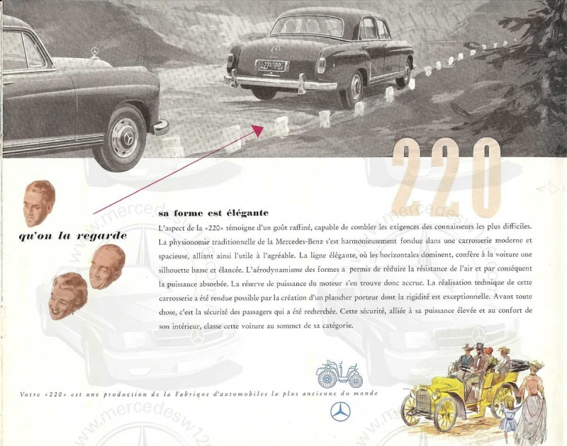 "Catalogue de 1954 sur la Mercedes W180 220 ""ponton"" W180_241"
