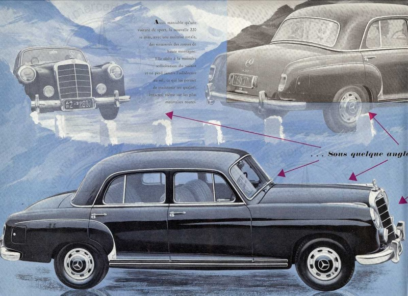 "Catalogue de 1954 sur la Mercedes W180 220 ""ponton"" W180_242"