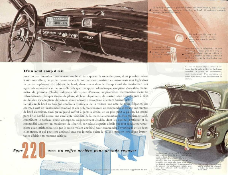 "Catalogue de 1954 sur la Mercedes W180 220 ""ponton"" W180_245"