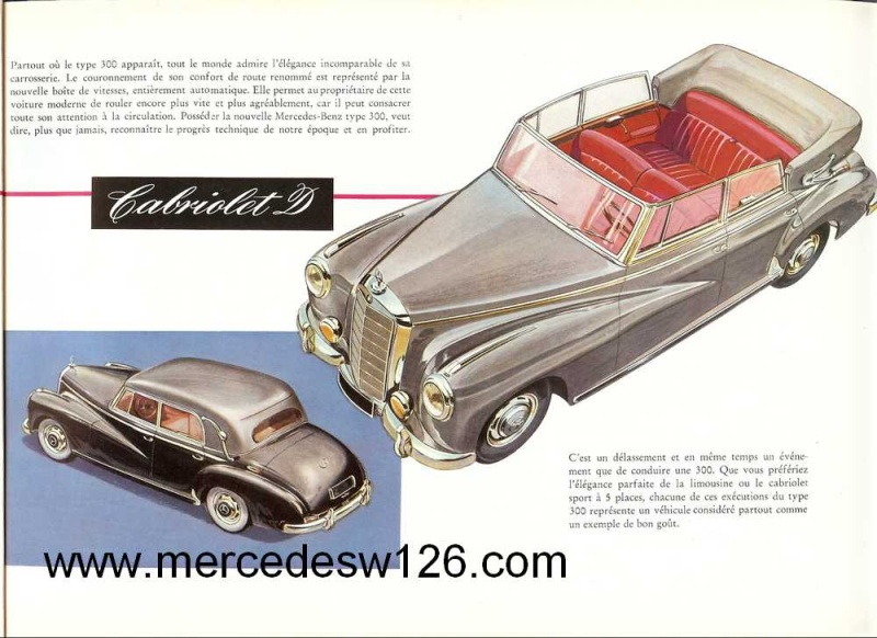 "Catalogue de 1951 sur la Mercedes W186 300 ""Adenauer"" W186_113"