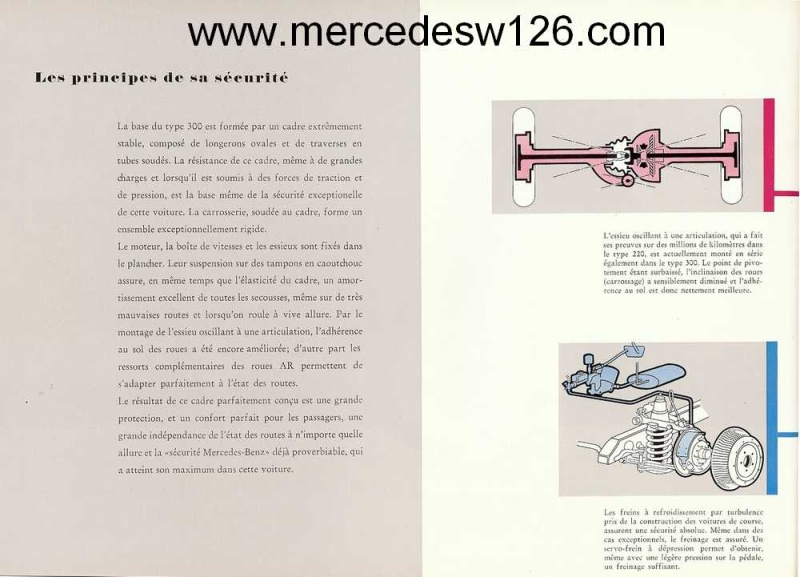 "Catalogue de 1951 sur la Mercedes W186 300 ""Adenauer"" W186_120"