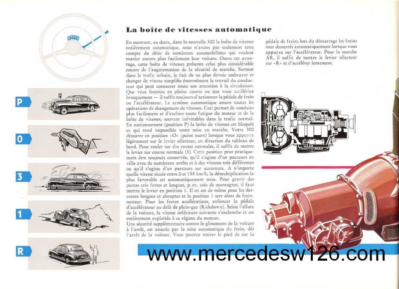 "Catalogue de 1951 sur la Mercedes W186 300 ""Adenauer"" W186_123"