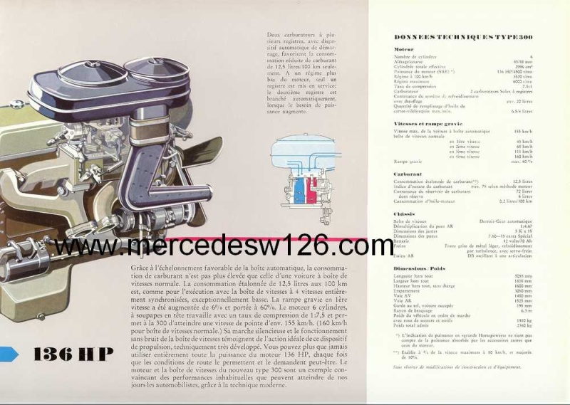 "Catalogue de 1951 sur la Mercedes W186 300 ""Adenauer"" W186_124"