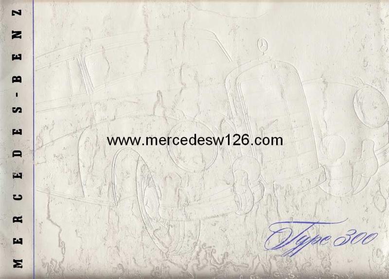 "Catalogue de 1954 sur la Mercedes W186 300 ""Adenauer"" W186_310"