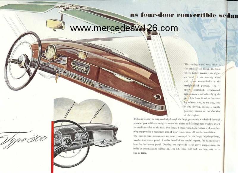 "Catalogue de 1954 sur la Mercedes W186 300 ""Adenauer"" W186_312"