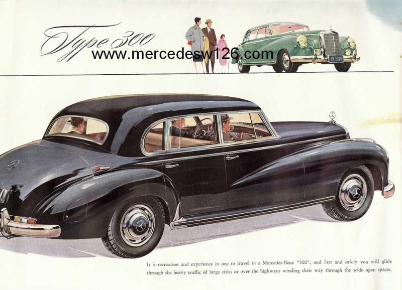 "Catalogue de 1954 sur la Mercedes W186 300 ""Adenauer"" W186_313"