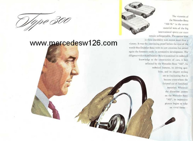 "Catalogue de 1954 sur la Mercedes W186 300 ""Adenauer"" W186_314"