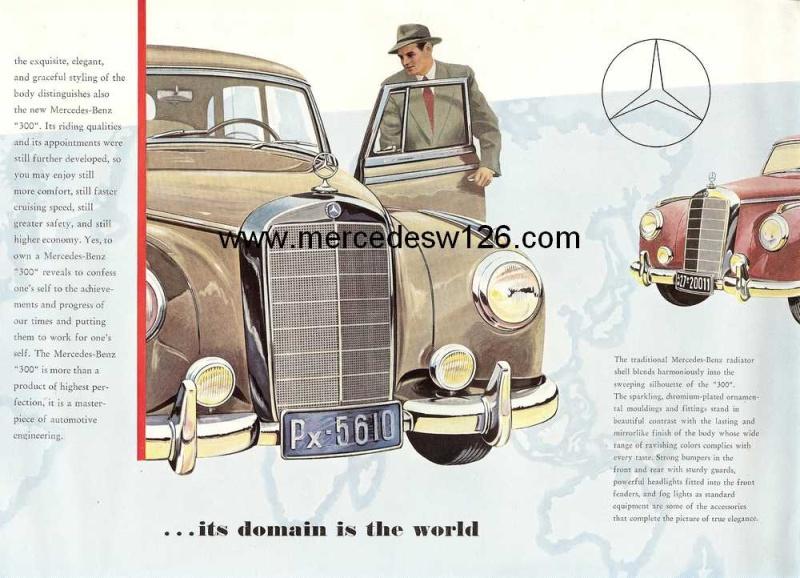 "Catalogue de 1954 sur la Mercedes W186 300 ""Adenauer"" W186_315"