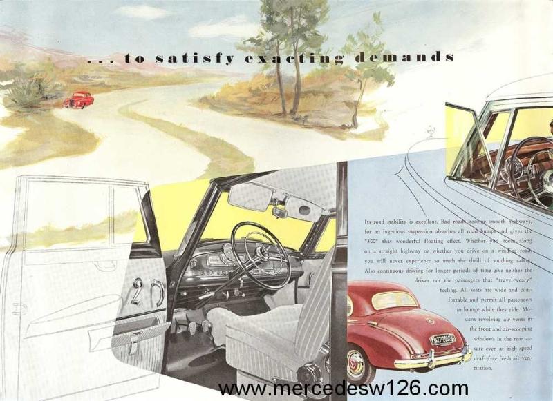 "Catalogue de 1954 sur la Mercedes W186 300 ""Adenauer"" W186_316"