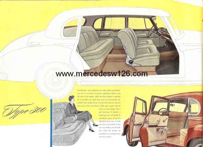 "Catalogue de 1954 sur la Mercedes W186 300 ""Adenauer"" W186_317"